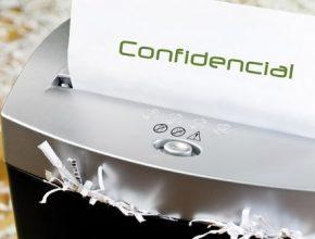 destrucción de papel confidencial